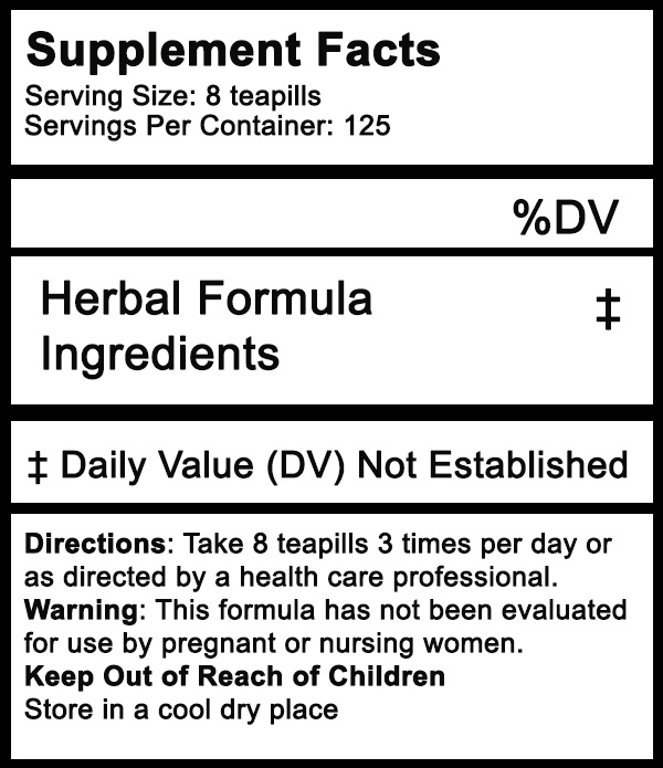 herbal tea pill facts